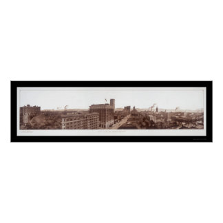 Birmingham, foto 1914 del horizonte del AL Póster
