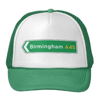 Birmingham, señal de tráfico BRITÁNICA Gorros