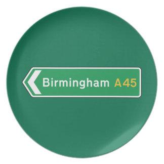 Birmingham señal de tráfico BRITÁNICA Platos
