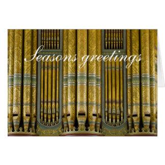 Birmingham Town Hall organ greetings Card