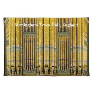 Birmingham Town Hall pipe organ Place Mat
