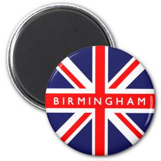 Birmingham UK Flag 2 Inch Round Magnet