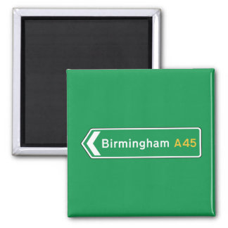 Birmingham, UK Road Sign Magnet