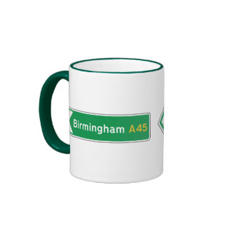 Birmingham UK Road Sign Coffee Mugs