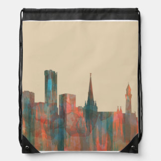 BIRMINGHAM, UK SKYLINE DRAWSTRING BAG