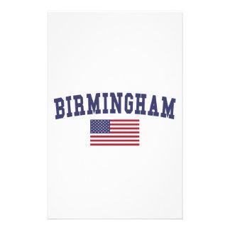 Birmingham US Flag Stationery