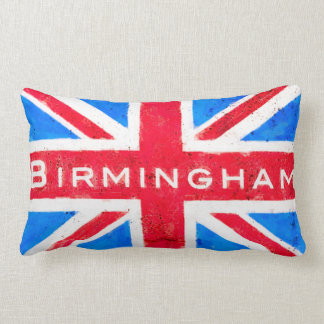Birmingham - Vintage United Kingdom Union Jack Lumbar Pillow