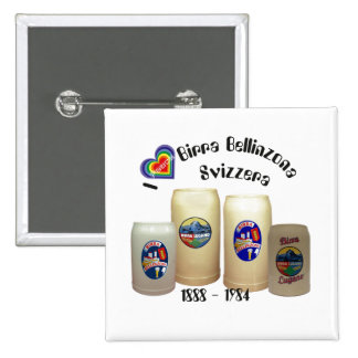 Birra Bellinzona Svizzera Button Pins
