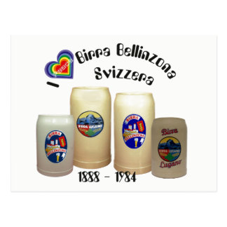 Birra Bellinzona Svizzera postcard