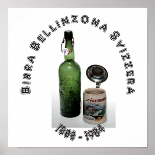 Birra Bellinzona Svizzera póster