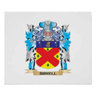 Birrell Coat of Arms Poster