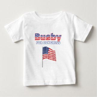 Birretina para el diseño patriótico de la bandera t shirt