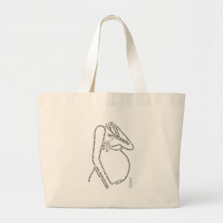 Birth Affirmations Large Tote Bag