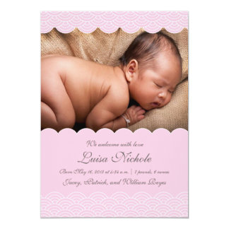 Birth Annoucement | Pretty in Pink Card