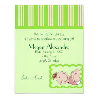 Birth Announcement Baby Girl