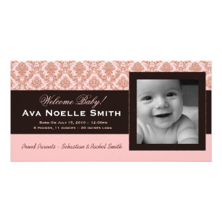 Birth Announcement:: Baby Girl Photo Card