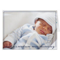 Birth Announcement Baby Photo Christmas