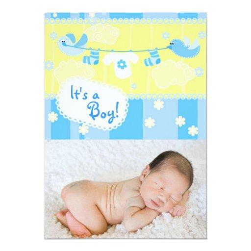 Birth announcement - boy
