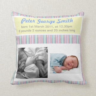 Birth Announcement Boy/Girl Pillow