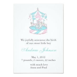 Birth Announcement - Carousel