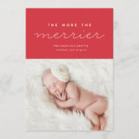 Birth Announcement Christmas Card