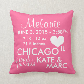 Birth Announcement Fully Customization Pillow