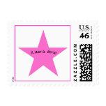 Birth Announcement - Girl Stamp