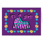 Birth Announcement: It's A Girl! With Bassinet Cards