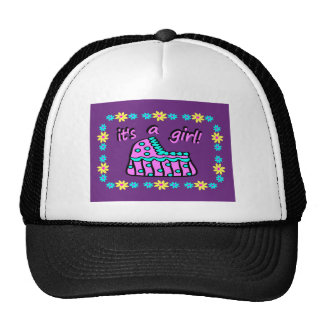 Birth Announcement: It's A Girl! With Bassinet Trucker Hat
