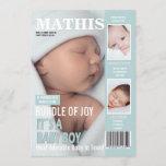 Birth Announcement Magazine Cover 3 Photos