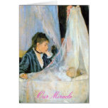 """Birth Announcement: """"Our Miracle"""" Greeting Cards"""