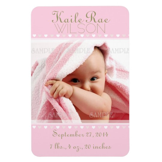 Birth Announcement Photo Magnets