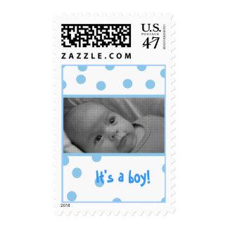 birth announcement photo stamp