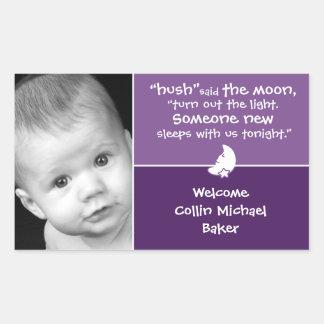 Birth Announcement Photo Stickers