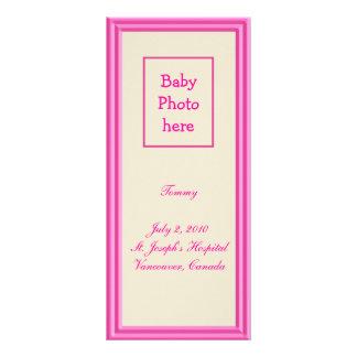 Birth Announcement Rack Card