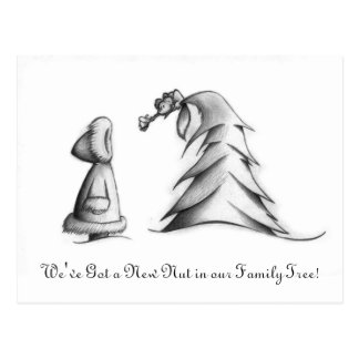 Birth Announcement - Winter Family Tree Postcard