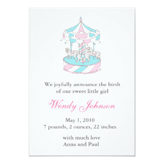 Birth Announcement with carousel