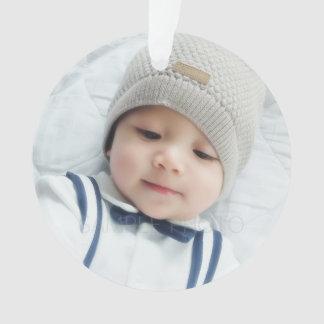 Birth Announcement with Custom Newborn Baby Photo Ornament