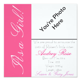 Birth Announcment Girl Card