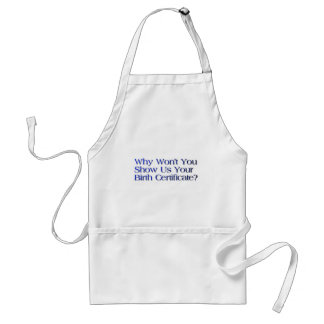 birth certificate question adult apron