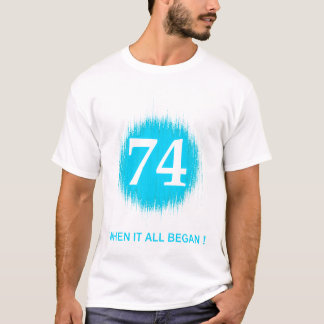 BIRTH DATES 74 PALE BLUE T-Shirt