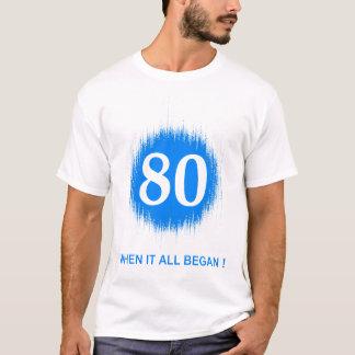 BIRTH DATES 80 BLUE T-Shirt