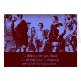 birth documents (blank) card