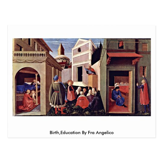 Birth,Education By Fra Angelico Postcard