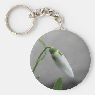 Birth Flower - January - Snowdrop Keychain