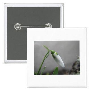 Birth Flower - January - Snowdrop Pinback Button