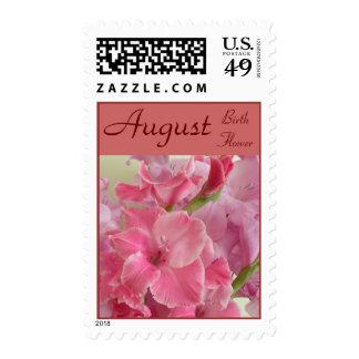 Birth Flower Postage Stamps - AUGUST