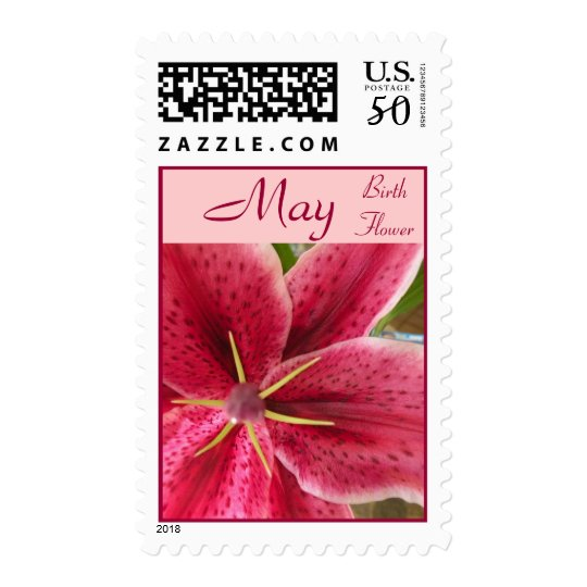Birth Flower Postage Stamps - MAY