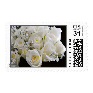 Birth Month Floral Postage June White Roses