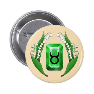 Birth Month May Taurus Pinback Button